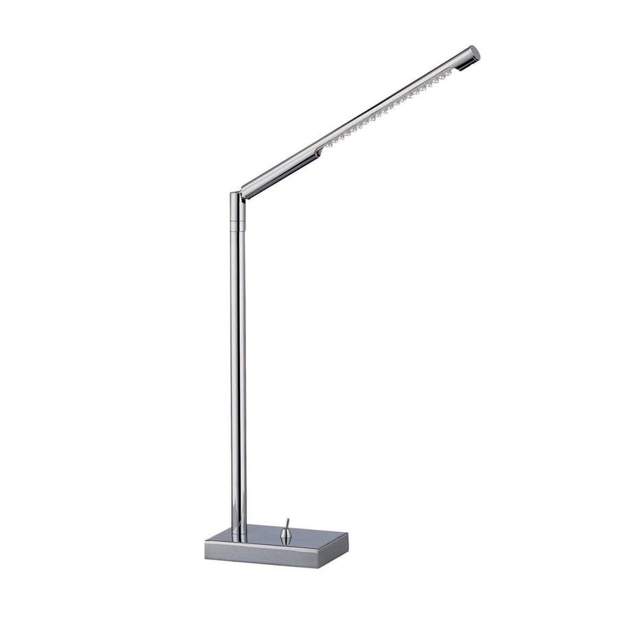 Lite Source 14-1/2-in Adjustable Chrome LED Desk Lamp with Metal Shade