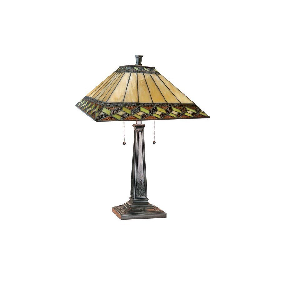 Table Lamps At Lowes: Lite Source 24-in Bronze Indoor Table Lamp With Tiffany