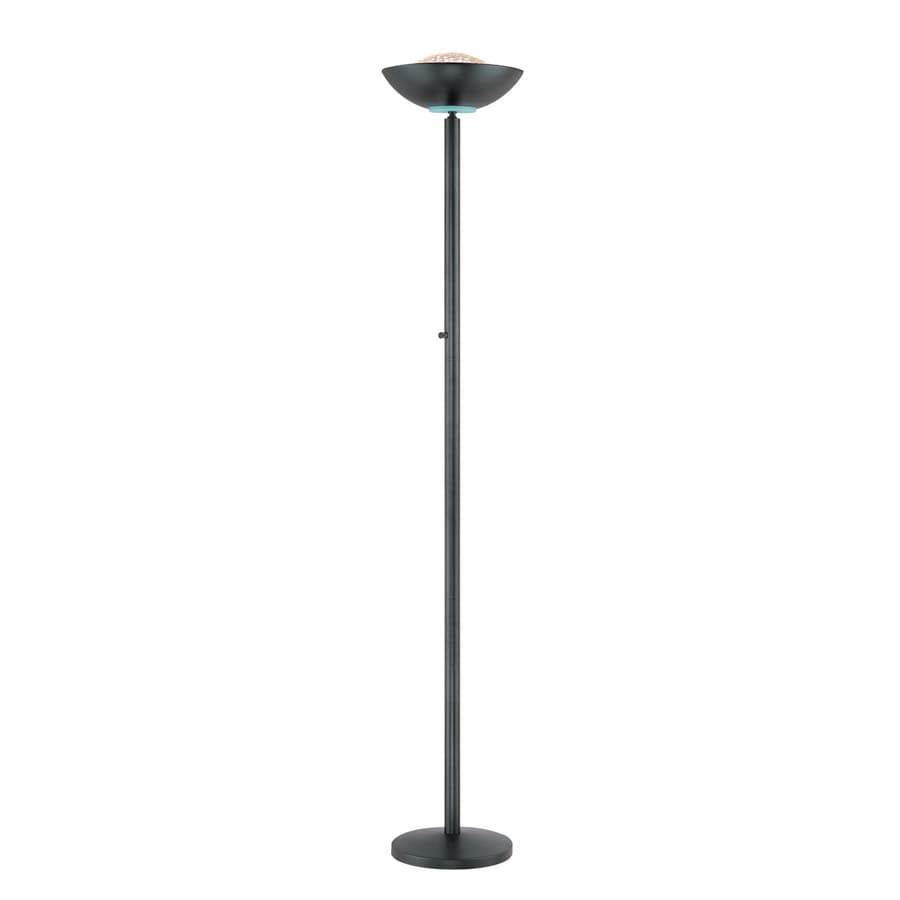 Shop Lite Source 72 In Black Torchiere Indoor Floor Lamp