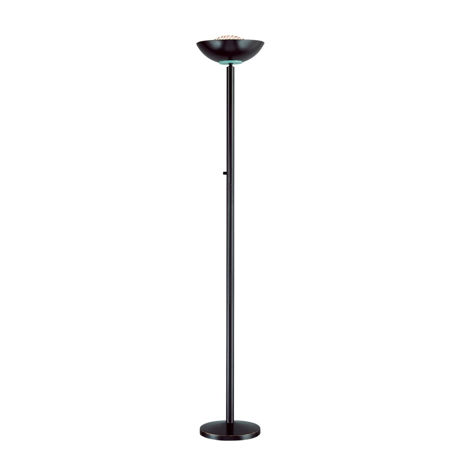 Lite Source 72-in Dark Bronze Torchiere Floor Lamp with Metal Shade