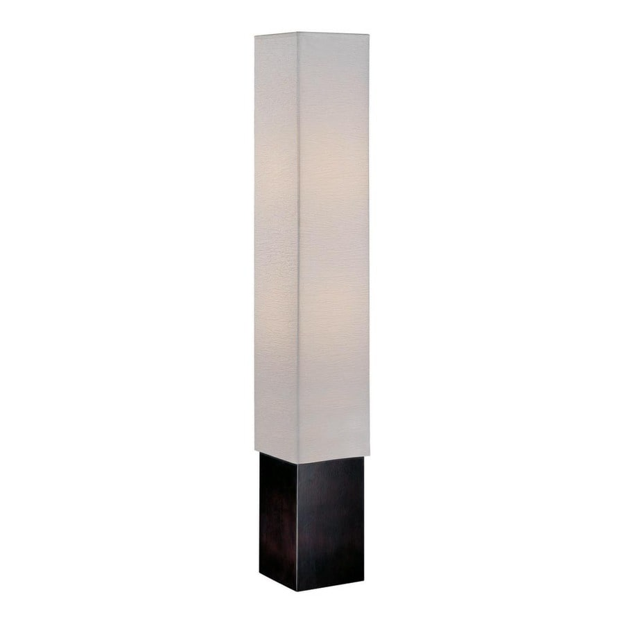 Lite Source 50-in Dark Walnut Contemporary/Modern Shaded Floor Lamp Indoor Floor Lamp with Paper Shade