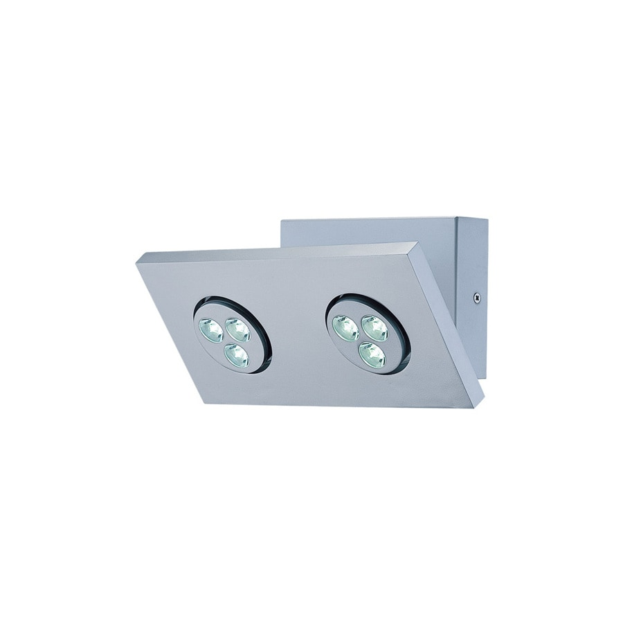 Lite Source 6.25-in H Gray/Silver LED Wall-Mounted Lamp with Metal Shade