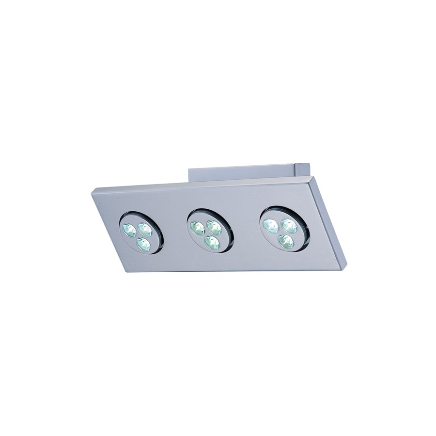 Lite Source 6.5-in H Gray/Silver LED Wall-Mounted Lamp with Metal Shade