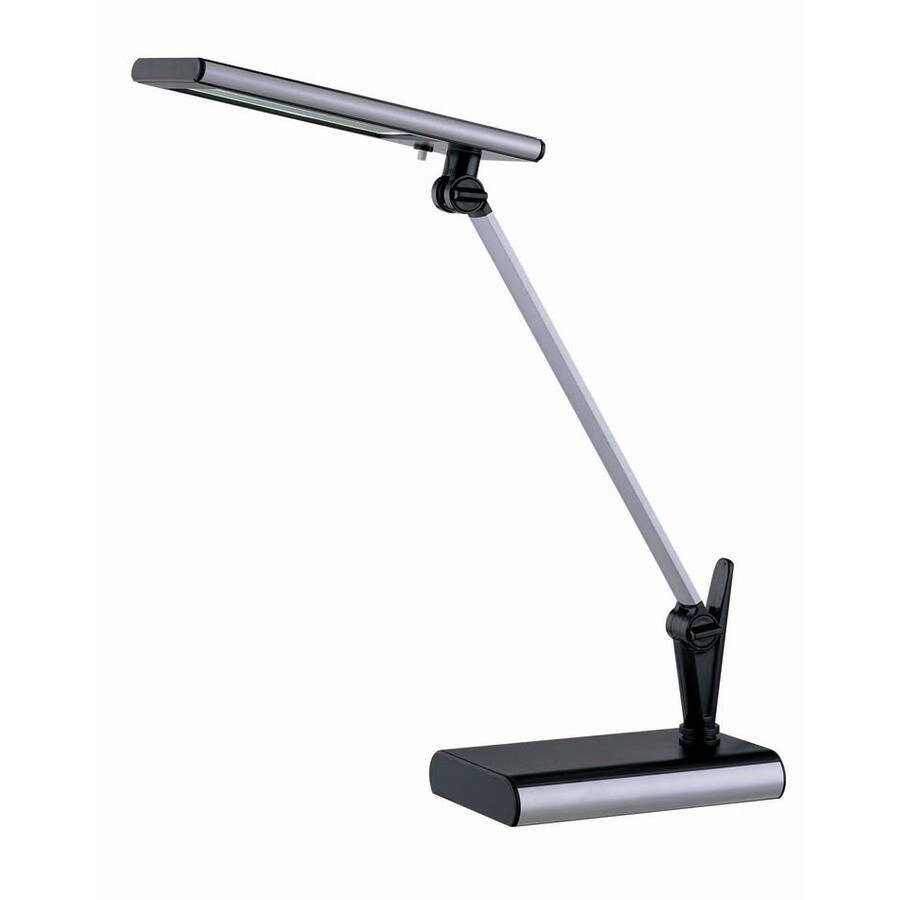 Lite Source 20-in Adjustable Black LED Desk Lamp with Plastic Shade