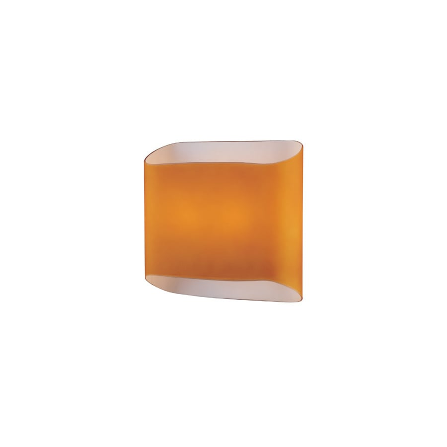 Lite Source 8-in H Multicolor Wall-Mounted Lamp with Glass Shade