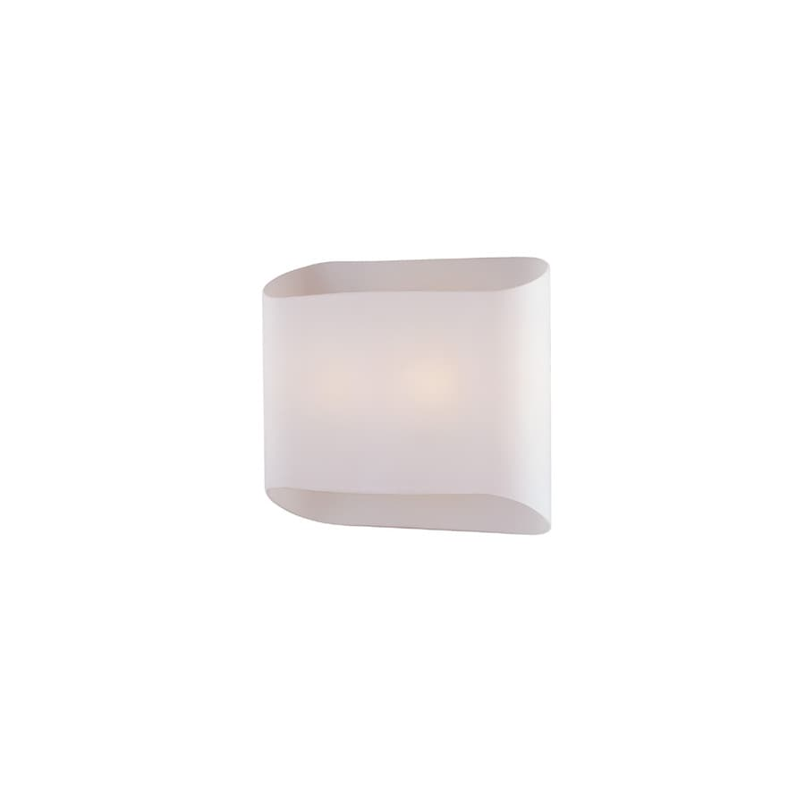 Lite Source 9-in H White Wall-Mounted Lamp with Glass Shade