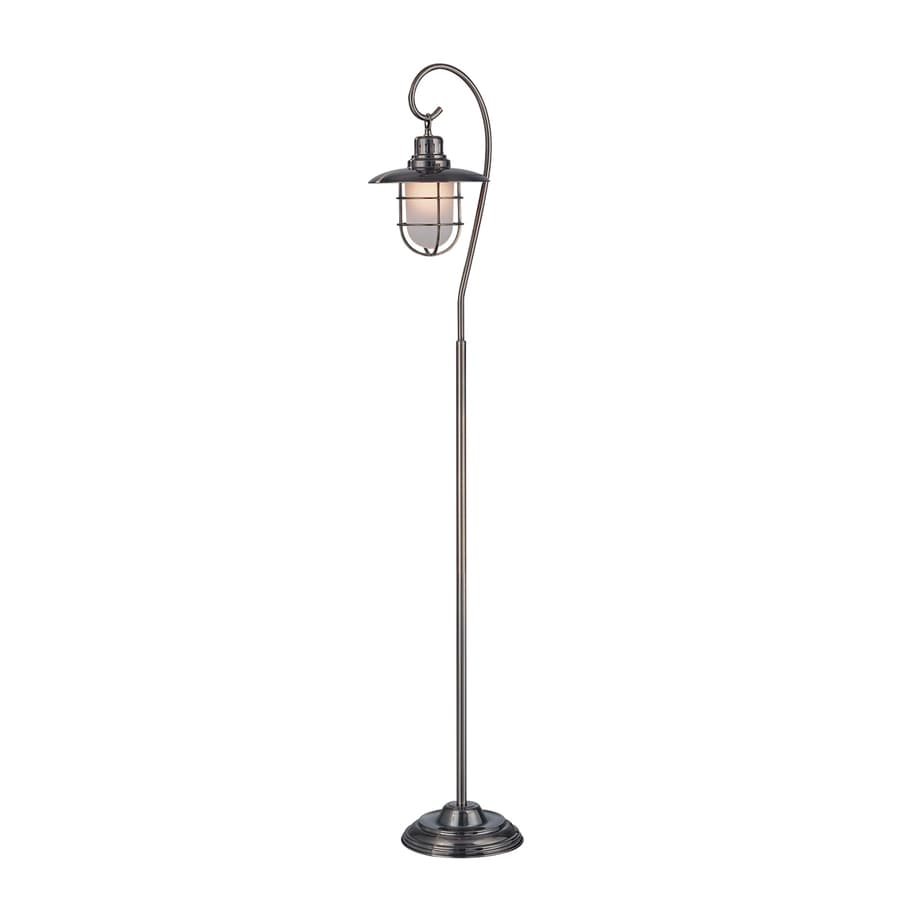 shop lite source 59 in antique brass floor lamp with glass With brass floor lamp lowes