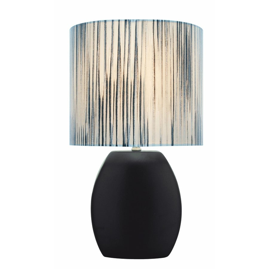 Lite Source Reiko 17-in Black Indoor Table Lamp with Fabric Shade