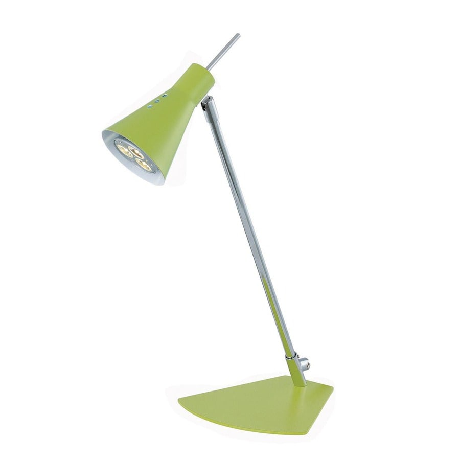 Lite Source 15-in Adjustable Chrome LED Desk Lamp with Metal Shade