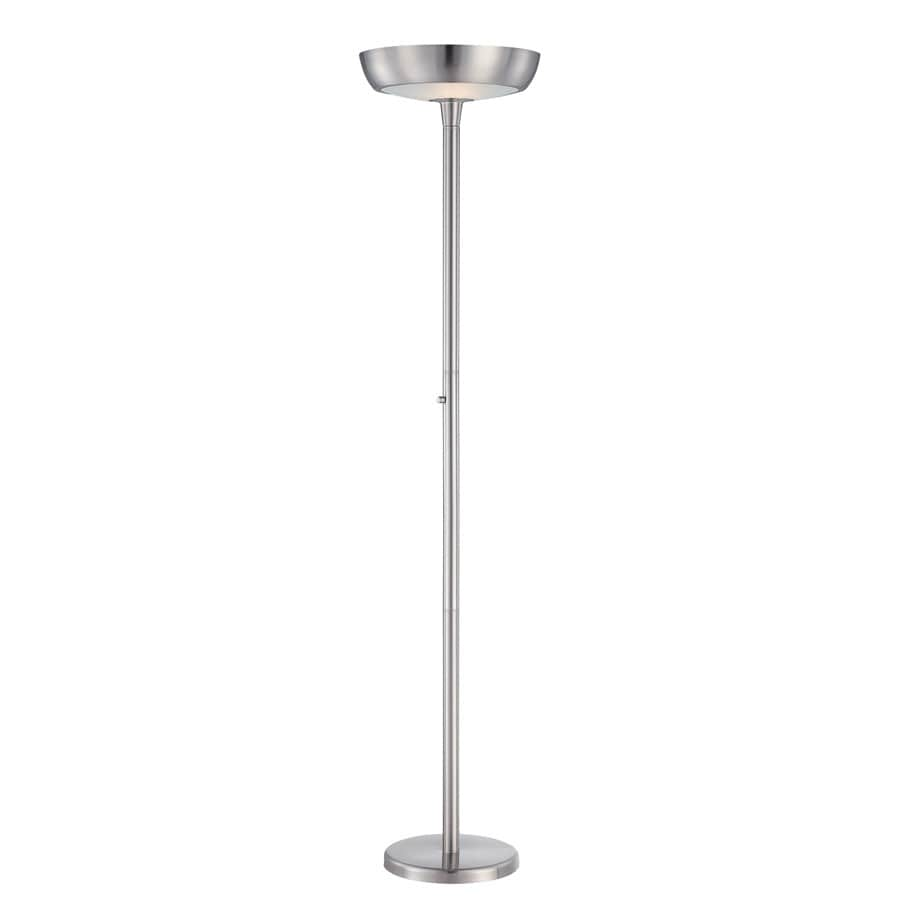 Lite Source 71-in Polished Steel Indoor Floor Lamp with Metal Shade