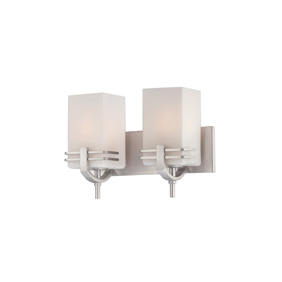 Lite Source 9.75-in H Steel-Painted Wall-Mounted Lamp with Glass Shade