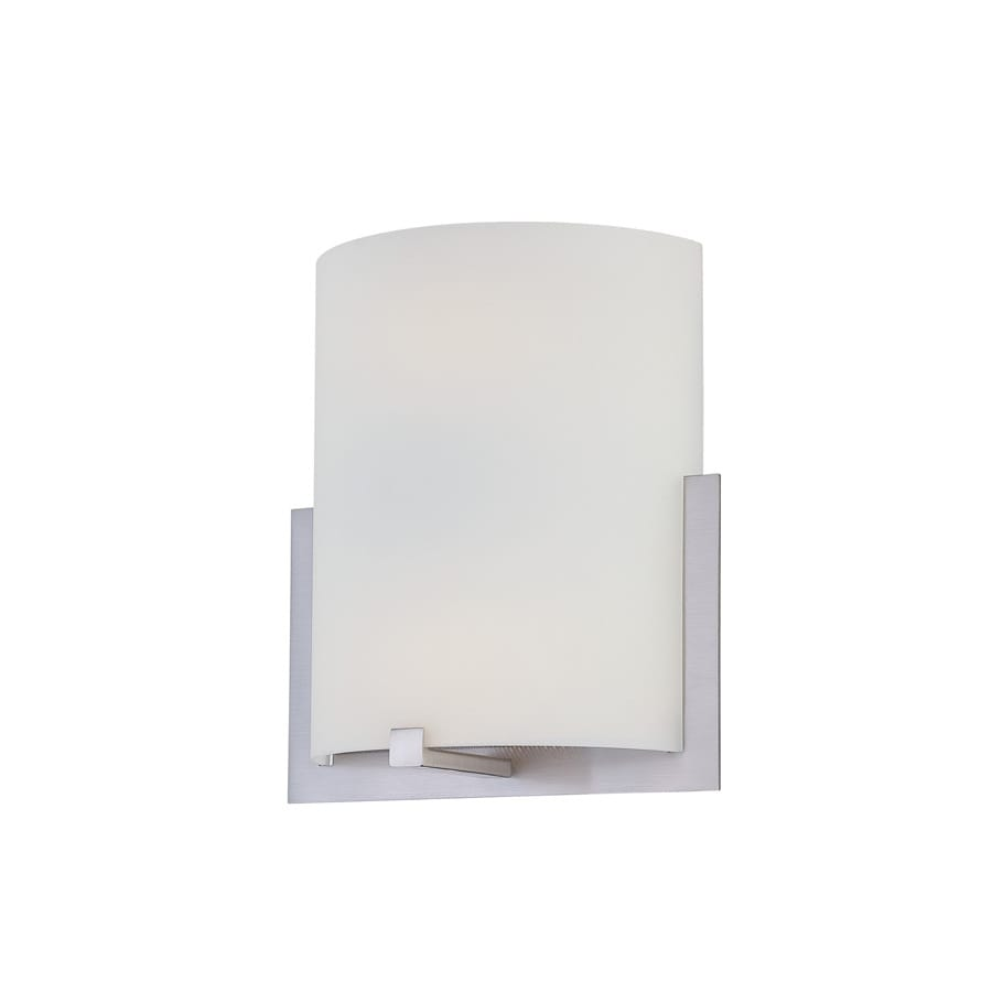 Lite Source 11.25-in H Steel-Painted Wall-Mounted Lamp with Glass Shade