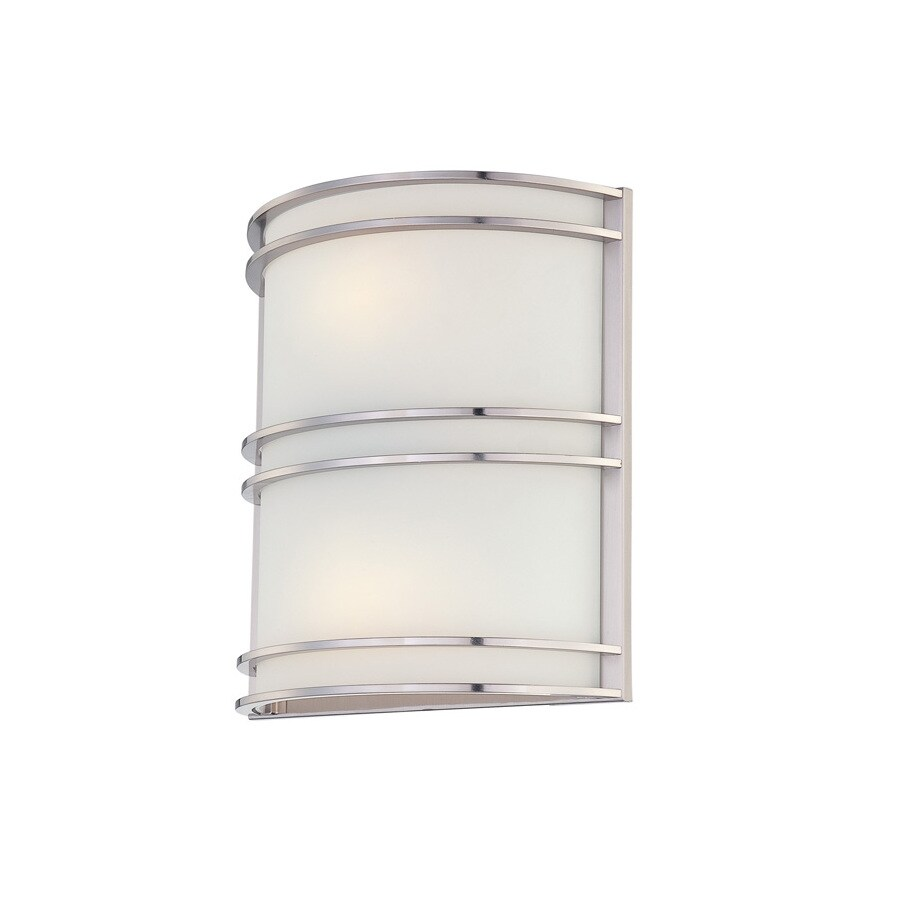 Lite Source 11.5-in H Steel-Painted Wall-Mounted Lamp with Glass Shade