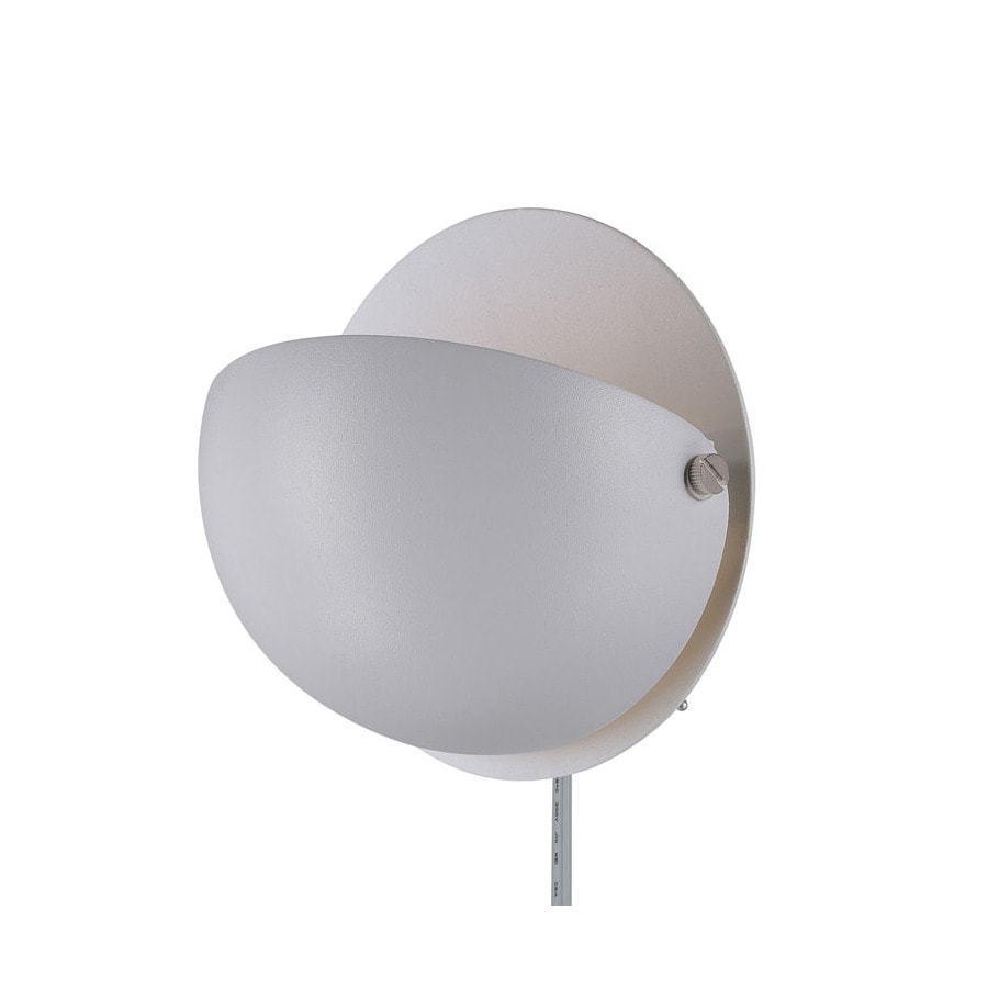 Wall Mount Lamp Shades : Shop Lite Source 6-in H White Wall-Mounted Lamp with Metal Shade at Lowes.com