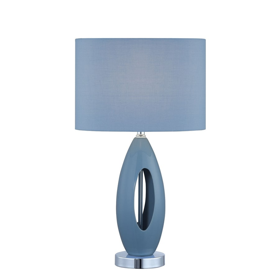 Lite Source 19 1 2 Blue Table Lamp With Light Blue Shade At Lowes Com