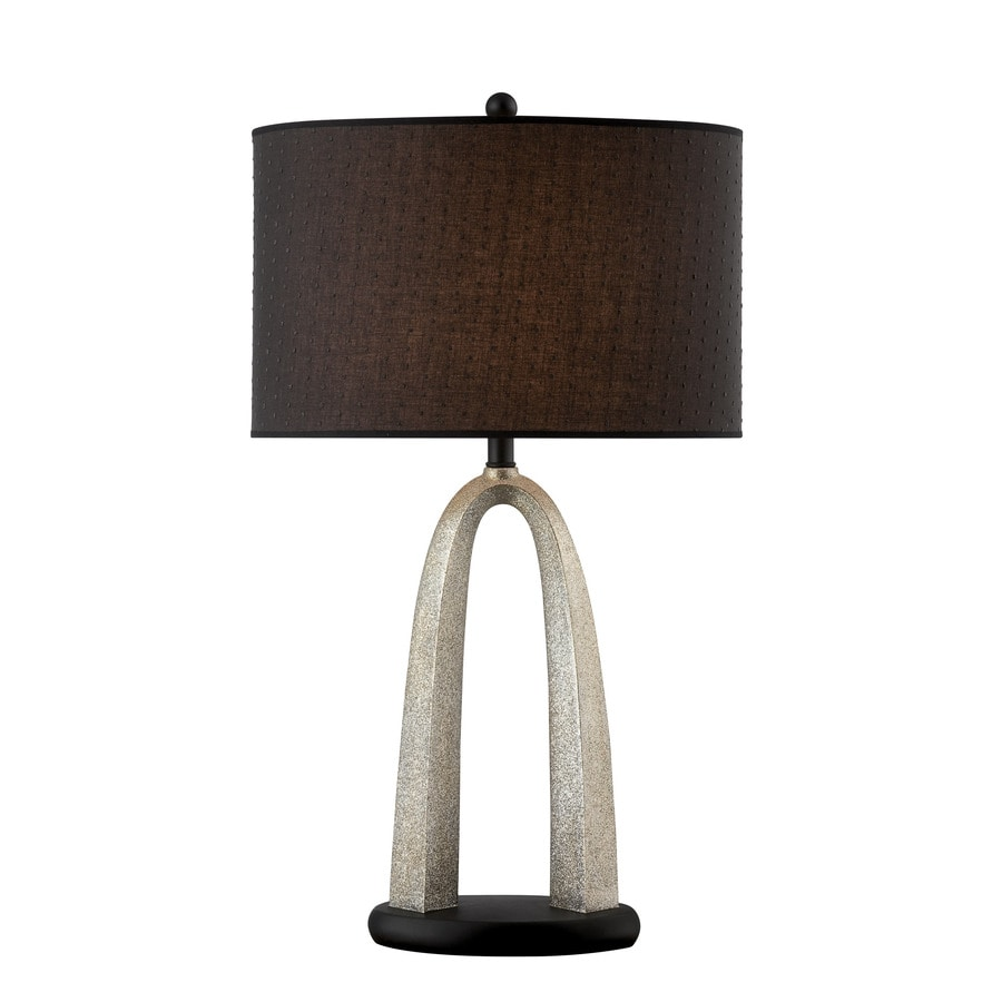 Lite Source Bambina 32-in 3-Way Switch Black Indoor Table Lamp with Fabric Shade