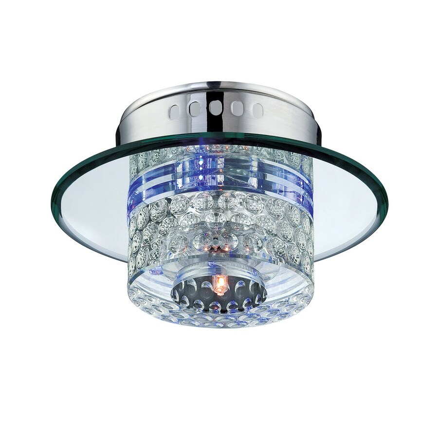 Lite Source Quotom 7-in W Clear Flush Mount Light