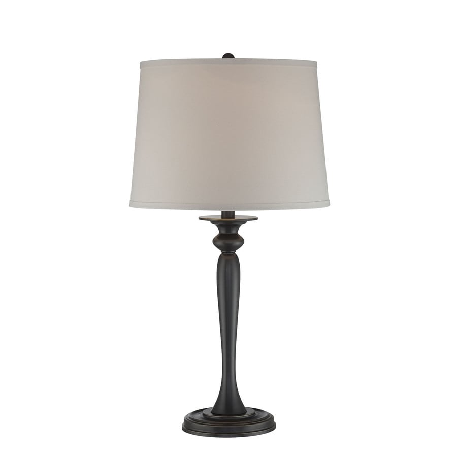 Lite Source Camryn 28.5-in Dark Bronze Standard Table Lamp with Fabric Shade