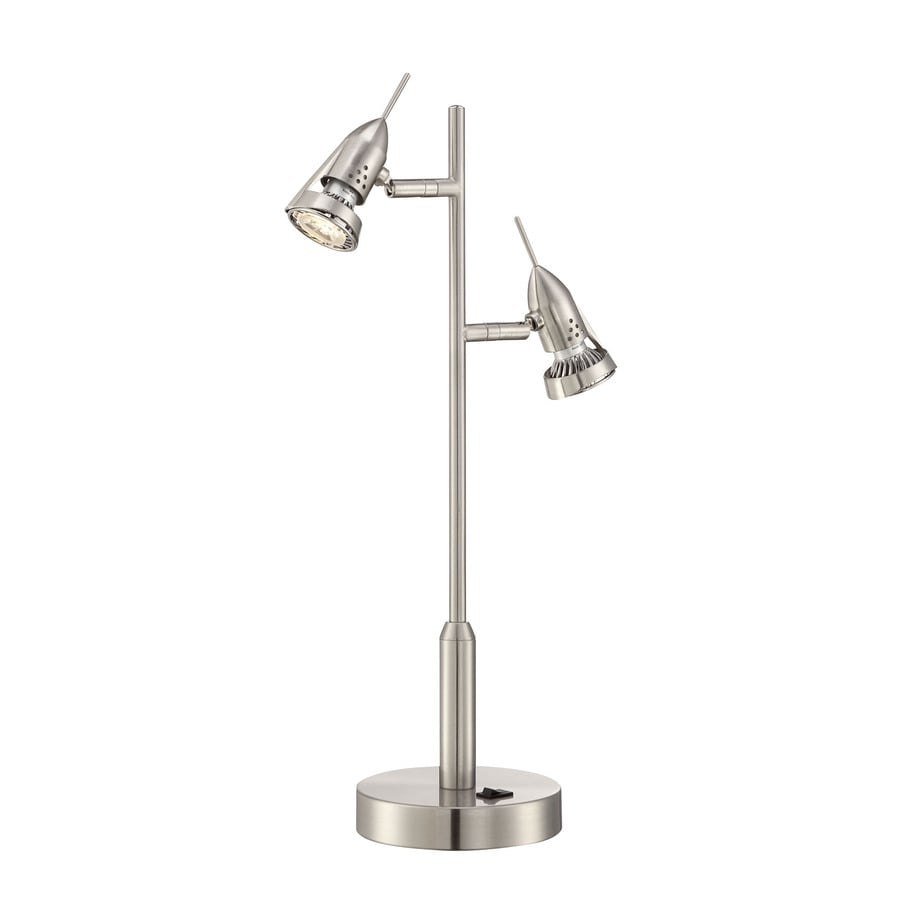 Lite Source Laszlo 18-in Polished Steel Standard Table Lamp with Metal Shade