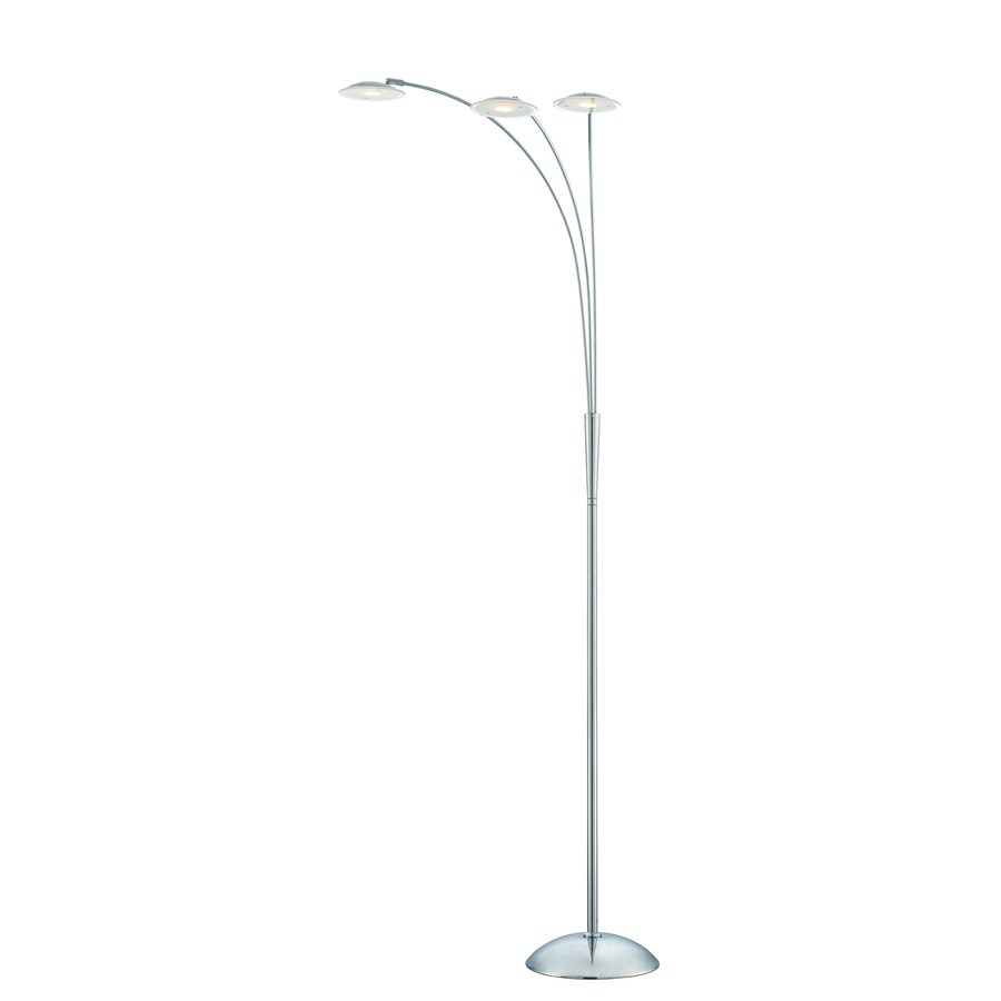 shop lite source cadee 71 5 in chrome multi head floor lamp with metal shade at. Black Bedroom Furniture Sets. Home Design Ideas