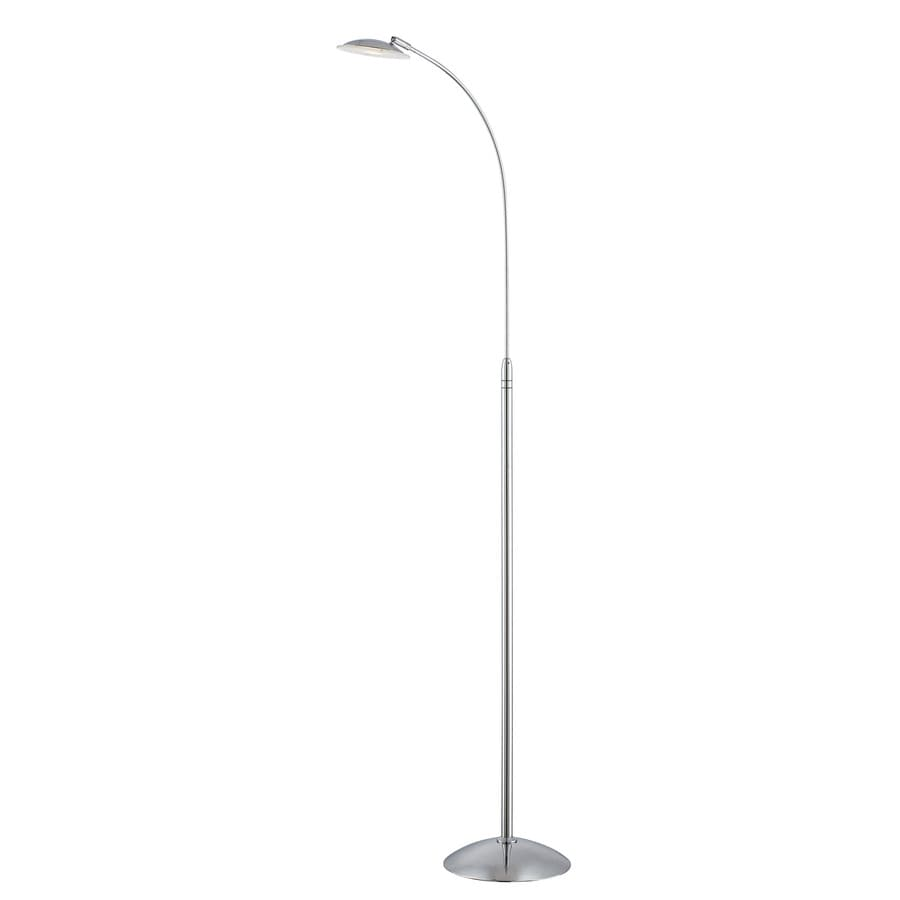 Lite Source Cadee 58.5-in Chrome Floor Lamp with Glass Shade