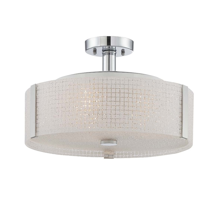 Lite Source Maso 15-in W Chrome Ceiling Flush Mount Light