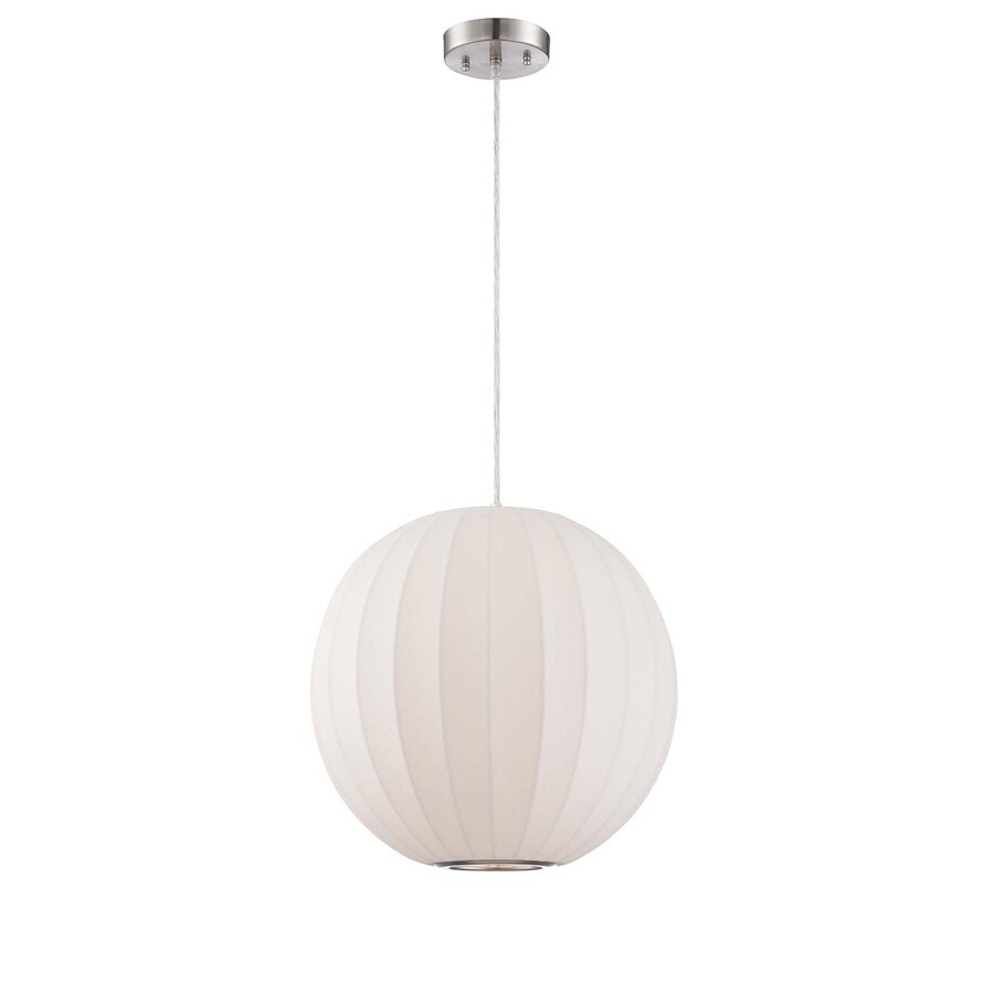 Lite Source Masumi 15.5-in White/Matte Craftsman Single Lantern Pendant