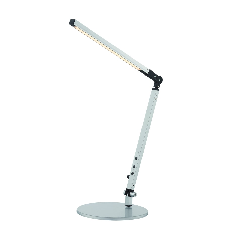 Lite Source Roddy 26.5-in Adjustable Silver Contemporary/Modern Integrated Desk Lamp with Metal Shade