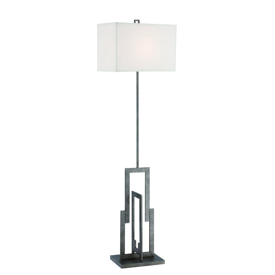 Lite Source Mireya 60-in Dark Bronze 3-Way Floor Lamp with Fabric Shade