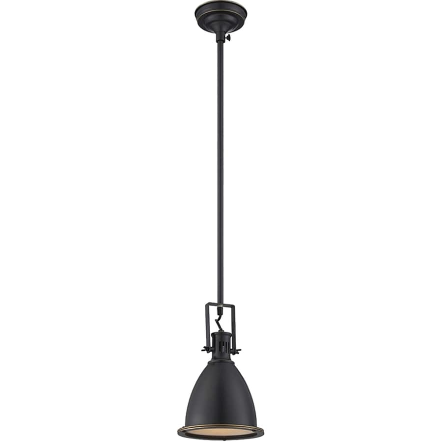 Lite Source Kartik 7-in Bronze/Brushed Industrial Mini Warehouse Pendant