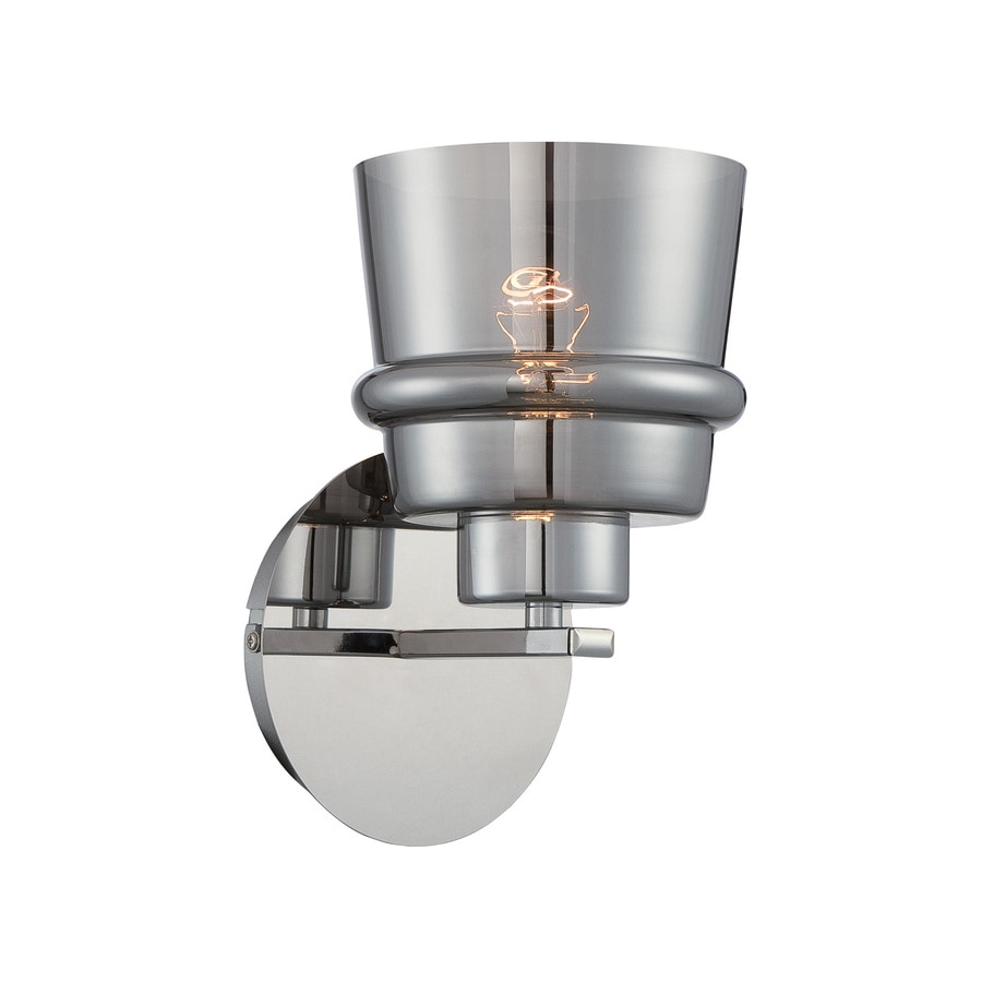 Lite Source Sparta 5-in W 1-Light Chrome Candle Wall Sconce