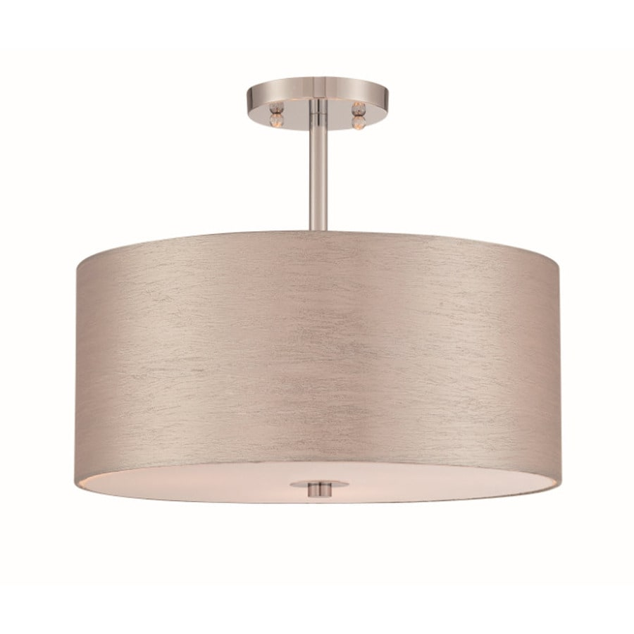 Lite Source Silvain 16-in W Chrome Flush Mount Light