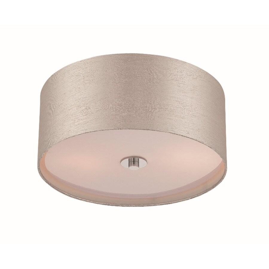 Lite Source Silvain 14-in W Chrome Flush Mount Light