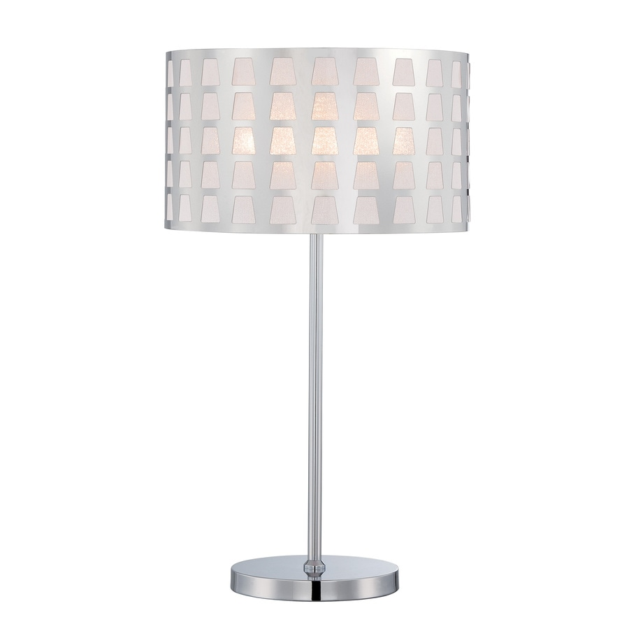 Lite Source Marciano 24-in Chrome Standard Table Lamp with Metal Shade