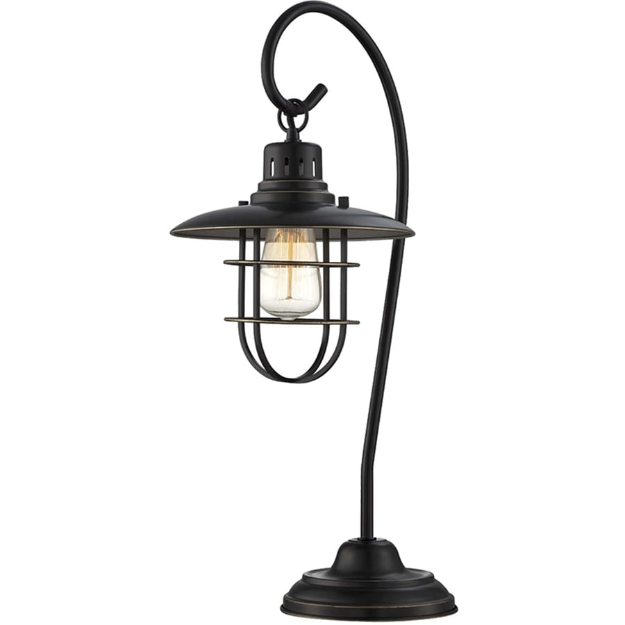 Lite Source Lanterna Ii 23-in Dark Bronze Indoor Table Lamp with Metal Shade