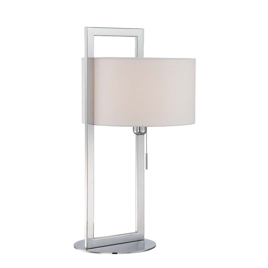 Lite Source Lucetta 26-in Chrome Indoor Table Lamp with Fabric Shade