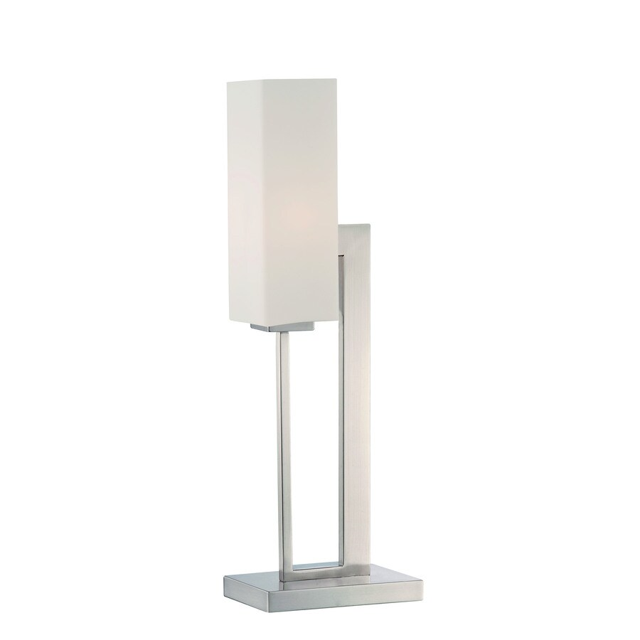 Lite Source Cairbre 24-in Polished Steel Standard Table Lamp with Glass Shade