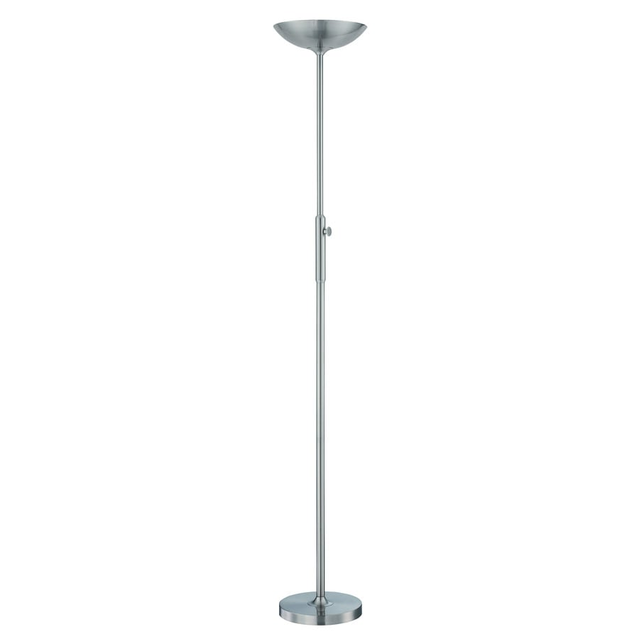 Lite Source Lemuel 70-in Polished Steel Contemporary/Modern Torchiere Indoor Floor Lamp with Metal Shade