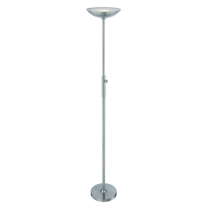Lite Source Lemuel 70 In Polished Steel Torchiere Floor Lamp In The Floor Lamps Department At Lowes Com
