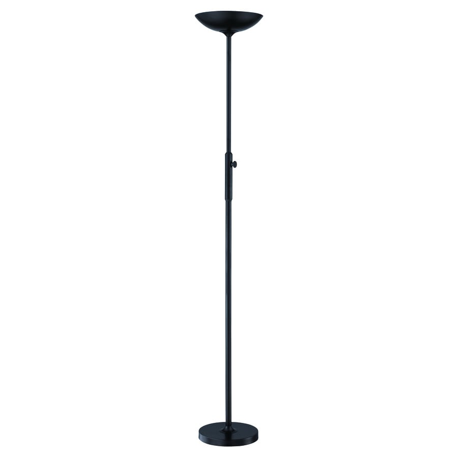 Shop Lite Source Lemuel 70 In Black Torchiere Floor Lamp