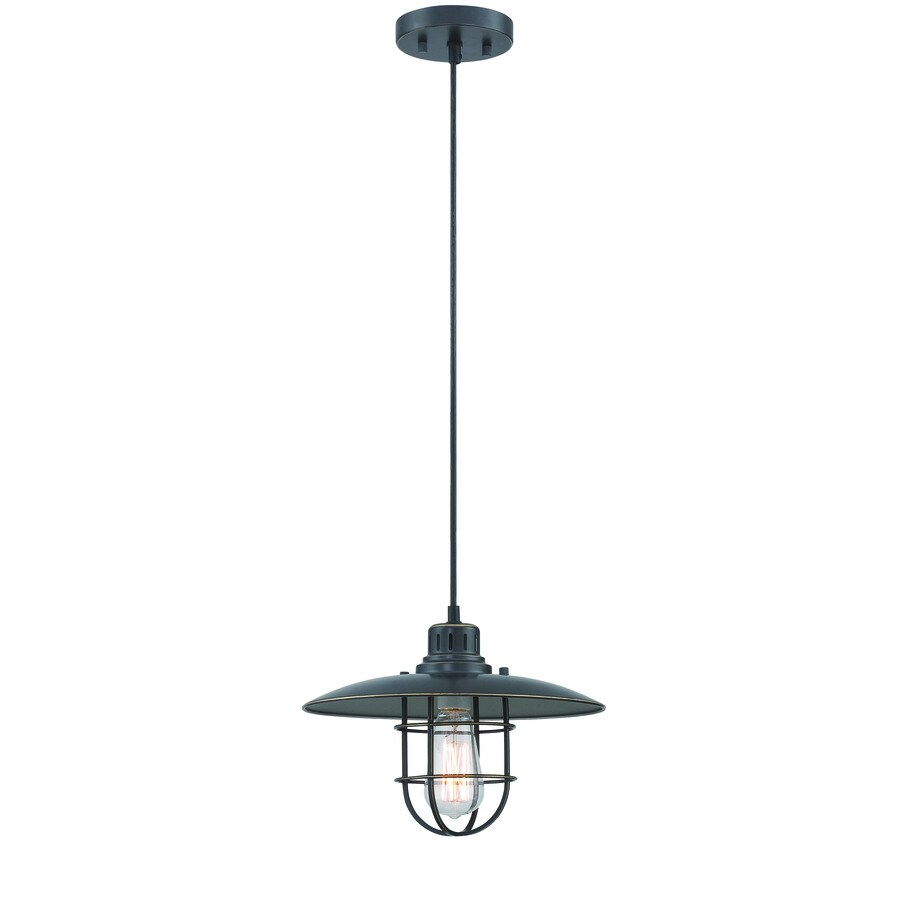 Lite Source Lanterna Ii 12.5-in Bronze/Antique Vintage Single Warehouse Pendant