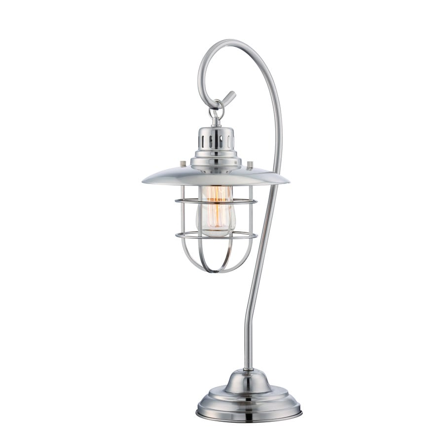 Lite Source Lanterna Ii 23-in Polished Steel Indoor Table Lamp with Metal Shade