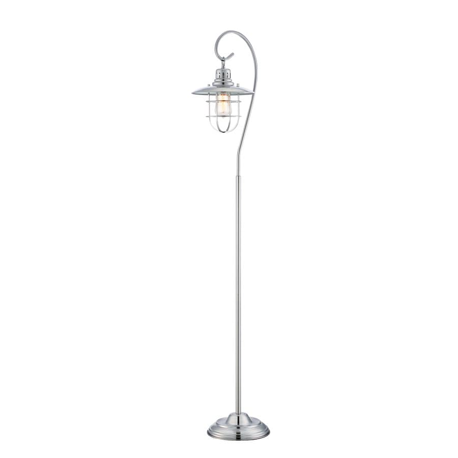 Lite Source Lanterna Ii 58.5-in Polished Steel Floor Lamp with Metal Shade
