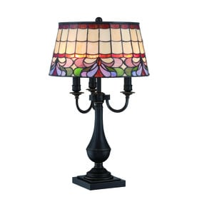 Lite Source Thasos 28 In Dark Bronze Table Lamp With Tiffany Style Shade