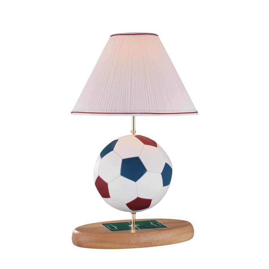 Lite Source Table Lamp Soccer Ball Body Pleated Fabric Shade A 100w