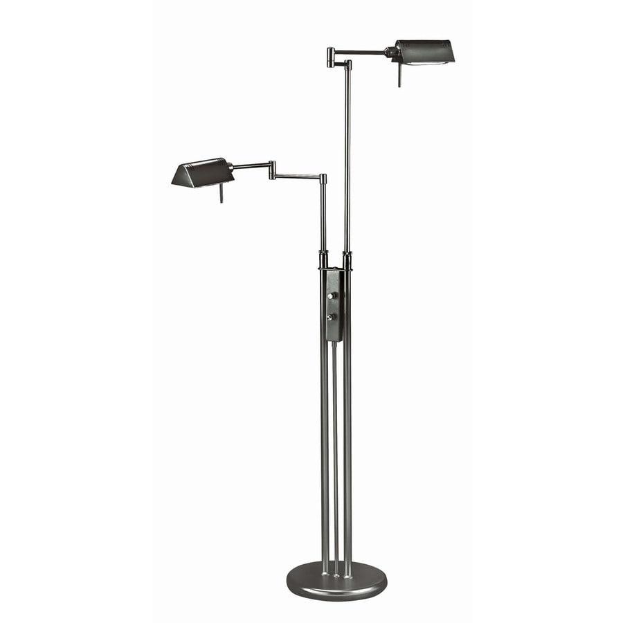 Lite Source 55-in Black Multi-Head Floor Lamp with Metal Shade