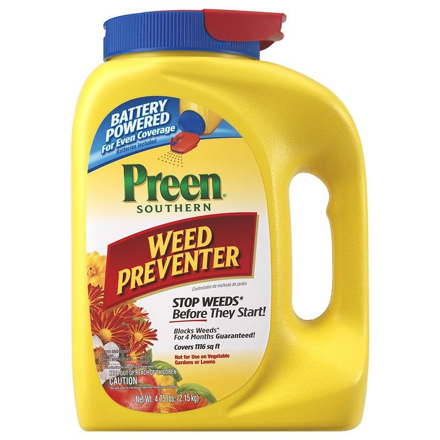 Preen 4.75-lb Southern Weed Preventer Battery Spreader