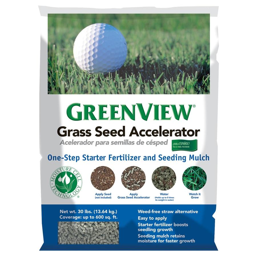 Greenview Seeding Mulch 30 Lb 600 Sq Ft 1 3 1 Lawn Starter At Lowescom