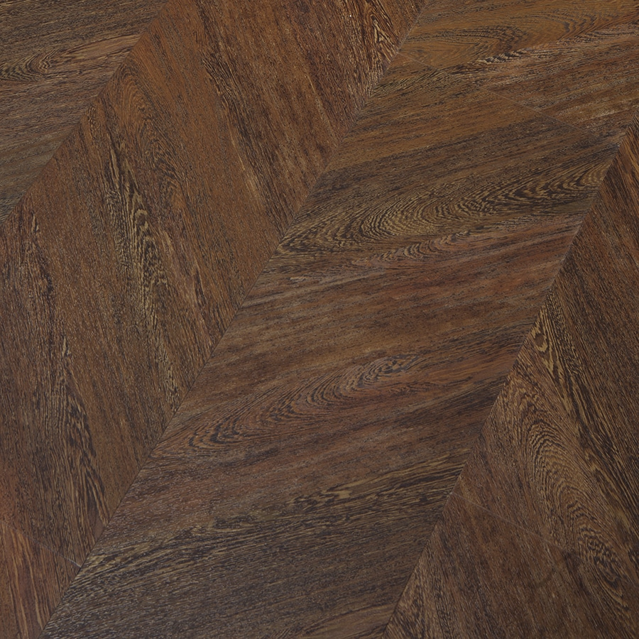 Congoleum 45 Degree 12-Piece 9-in x 48-in Cocoa Twill Right Glue Luxury Commercial/Residential Vinyl Plank