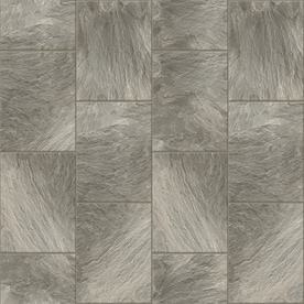 Congoleum DuraStone Clean Slate 10 Piece 16 In X 16 In Groutable Adhesive